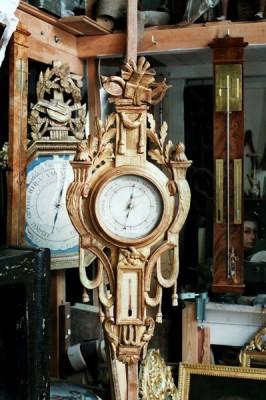baromètre bois sculpté et doré